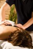 De massage van de steen stock afbeelding