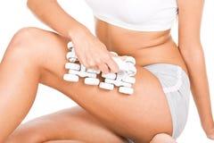 De massage van de vrouw royalty-vrije stock foto