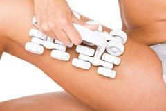 De massage van de vrouw stock afbeeldingen