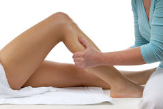 De massage van het been Royalty-vrije Stock Foto's