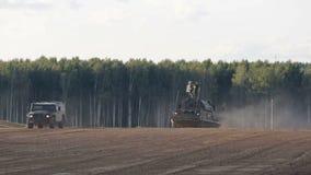 ` De massif de roche de ` de système de missiles aérien de défense banque de vidéos
