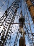 De Masten en het Optuigen van Kalmarnyckel Stock Afbeeldingen