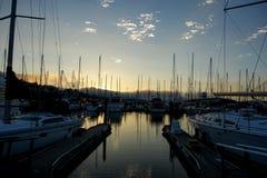 De Masten van de Sausalitoboot in de Haven Stock Foto