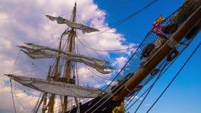 De Masten van Varend Schip stock video