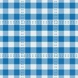 De Mat van de Lijst van het geruite Schotse wollen stof Royalty-vrije Stock Fotografie