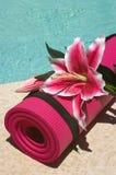 De Mat van de yoga royalty-vrije stock foto's