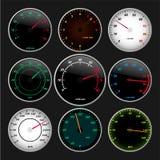 De maten van de snelheidsmeter en van t/min Vector Illustratie