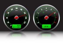 De maten van het autodashboard Stock Foto