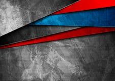 De materiële blauwe en rode achtergrond van Grungetechnologie royalty-vrije illustratie