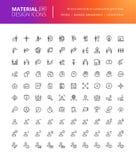 De materiële geplaatste pictogrammen van ontwerpmensen vector illustratie