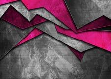 De materiële purpere en donkere grijze achtergrond van Grungetechnologie vector illustratie
