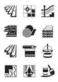 De materialen van de decoratie voor binnenland stock illustratie