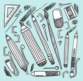 De materialen van de tekening Stock Afbeelding