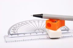 De materialen van de tekening Stock Fotografie