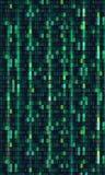 De matrijs van de achtergrond binaire codecomputer kunstontwerp Cijfers op het scherm Abstracte concepten grafische gegevens, tec royalty-vrije illustratie