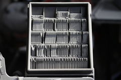 De Matrijzen van de linotype Royalty-vrije Stock Foto's