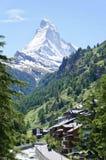 De Matterhorn-top in Zermatt, Zwitserland royalty-vrije stock fotografie