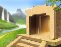 De Mayan achtergrond van het codespel Stock Afbeelding