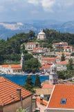 3 de mayo de 2019, Cavtat, Croacia Paisaje urbano imagen de archivo libre de regalías