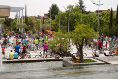 28 DE MAYO DE 2017, ALCOBENDAS, ESPAÑA: desfile tradicional de la bicicleta Fotos de archivo libres de regalías