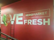21 de mayo de 2017, Damansara Kuala Lumpur Mercado Sri Damansara del héroe Foto de archivo libre de regalías