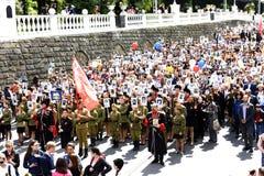 9 de mayo de 2015 Sochi, Rusia Fotos de archivo libres de regalías