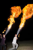 3 de mayo de 2014 Ulán Udé, Rusia: una demostración del fuego en la ciudad de Ulan-U Imágenes de archivo libres de regalías