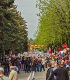 9 de mayo Demostración del día de fiesta Fotografía de archivo libre de regalías