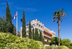 3 de mayo de 2019, Dubrovnik, Croacia Hotel magn?fico imperial imagen de archivo