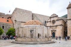 3 de mayo de 2019, Dubrovnik, Croacia Las fuentes de Onofrio fotografía de archivo