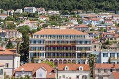 5 de mayo de 2019, Dubrovnik, Croacia Parte moderna de la ciudad fotos de archivo