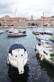 4 de mayo de 2019, Dubrovnik, Croacia Puerto viejo de la ciudad fotografía de archivo libre de regalías