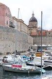 4 de mayo de 2019, Dubrovnik, Croacia Puerto viejo de la ciudad imagenes de archivo