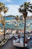 3 de mayo de 2019, Dubrovnik, Croacia Puerto viejo de la ciudad foto de archivo
