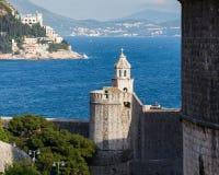 3 de mayo de 2019, Dubrovnik, Croacia Vieja configuraci?n de la ciudad fotografía de archivo