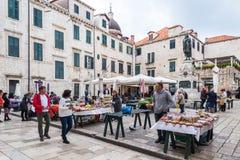 4 de mayo de 2019, Dubrovnik, Croacia Vieja configuraci?n de la ciudad imagen de archivo