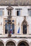 4 de mayo de 2019, Dubrovnik, Croacia Vieja configuraci?n de la ciudad foto de archivo