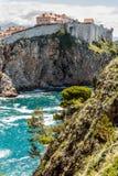 5 de mayo de 2019, Dubrovnik, Croacia Vieja configuraci?n de la ciudad imagen de archivo