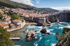 5 de mayo de 2019, Dubrovnik, Croacia Vieja configuraci?n de la ciudad imágenes de archivo libres de regalías