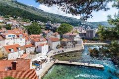 5 de mayo de 2019, Dubrovnik, Croacia Vieja configuraci?n de la ciudad fotografía de archivo libre de regalías
