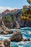 5 de mayo de 2019, Dubrovnik, Croacia Vieja configuraci?n de la ciudad fotografía de archivo