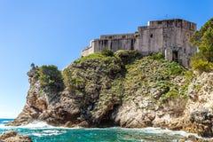 5 de mayo de 2019, Dubrovnik, Croacia Vieja configuraci?n de la ciudad imagenes de archivo