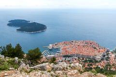 3 de mayo de 2019, Dubrovnik, Croacia Vieja forma de la ciudad de Dubrovnik arriba imágenes de archivo libres de regalías