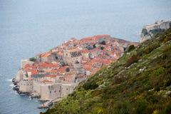 3 de mayo de 2019, Dubrovnik, Croacia Vieja forma de la ciudad de Dubrovnik arriba foto de archivo libre de regalías