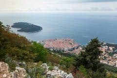 3 de mayo de 2019, Dubrovnik, Croacia Vieja forma de la ciudad de Dubrovnik arriba imagen de archivo libre de regalías