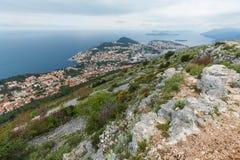 3 de mayo de 2019, Dubrovnik, Croacia Visi?n desde la colina de Srd foto de archivo libre de regalías