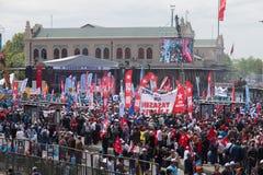 1 de mayo en Estambul Foto de archivo libre de regalías