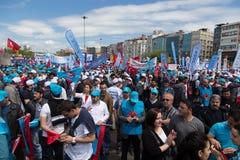1 de mayo en Estambul Foto de archivo