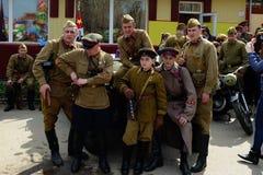 9 de mayo en Tomsk Imagen de archivo libre de regalías