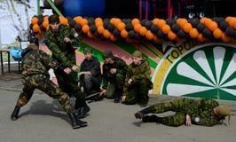 9 de mayo en Tomsk Fotografía de archivo